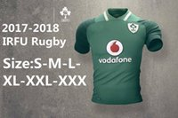 Wholesale Flashing Sizes - New Zealand 2017 Jerseys Ireland 2017 18 Home Classic Rugby Shirt Ireland IRFU home away Rugby Jersey Super Rugby Size S-3XL