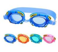 gafas de gafas de bebé al por mayor-2017 niños Gafas de Buceo de Agua de buceo submarino Equipo de dibujos animados cangrejo gafas de bebé HD gafas de natación a prueba de agua