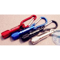 Wholesale Mini Dynamo Flashlight Keychain - Wholesale Mini LED Flashlight Carabiner Torch Clip Keychain Camping Hiking mini flashlights key chain Free Shipping