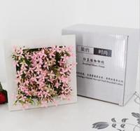 ständer wand bilderrahmen großhandel-Einteilige künstliche Pflanzen Rahmen Kreative 3D Metope Sukkulenten Nachahmung Fotorahmen Wanddekoration künstliche Blumen DT24