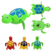 Vente en gros - 2017 New Swimming Wind Up Turtle Pool Jouets flottants pour bébé Baby Kids Bath Time