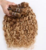 karışık saçlı saç toptan satış-Remy Saç-Su dalga Saç Demeti% 100% İnsan Saç dokuma Ücretsiz Arapsaçı 100 g / adet 3 adet / grup Ücretsiz DHL
