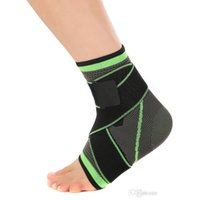 Wholesale Elastic Foot Brace - New arrival elastic breathable adjustable strap compression sports ankle brace support foot protector ankle stabilizing swelling reduction