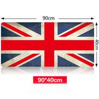 Wholesale Large Jacks - Wholesale- Large Size 900*400*3MM Union Jack Speed Game Mouse Pad Mat Laptop Gaming Mousepad