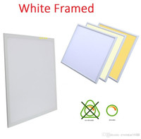 Wholesale Dimmable Led Panel Light 48w - White frame 2ft X 2ft LED Panel Light 600*600mm 48W 40W Dimmable Led Ceiling Panel Lights + AC 110-240V Drivers