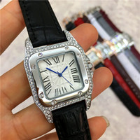 Wholesale designer items - Hot Items Women Watch Genuine Leather Colorful Famous Designer Noble Female Quartz Luxury Top Brand High Quality luminous handsFree shipping