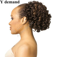 Wholesale Natural Hair Ponytail Piece - Cool Hair Accessories Extensions Short Curly Claw Afro Kinky Ponytail Drawstring Hot For Black Women Hair Pieces Modern In Stock