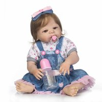 """Wholesale Inflatable Doll New - Wholesale- New 22""""Full Silicone Bebe Reborn Baby Girl Princess Dolls Lifelike Newborn Babies Alive Doll for Child Bath Shower Bedtime Toy"""