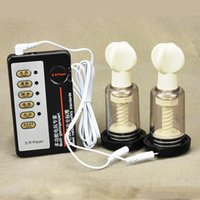 Wholesale Pussy Suckers - Medical Material Electric Shock Therapy Breast Sucker Stimulator pussy sucker Cupping Massager Sex toys for Women