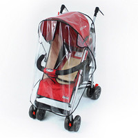 Wholesale rain cover baby - Waterproof Dust Rain Cover Strollers Pushchairs Baby Carriage Windshield Universal PU Raincover for Prams