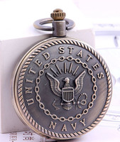 Wholesale Wholesale Firefighter - wholesale 47MM United States Army Navy Airforce Marine Corps Firefighter Necklace Chain Pocket watches mens army quartz watch