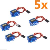 Wholesale Rc Helicopter Stabilizer - servo motor stabilizer 5pcs lot Tower pro SG90 RC Micro Servo 9g For Arduino Aeromodelismo Align Trex 450 Airplane Helicopters Accessories