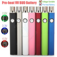 La plus récente tension variable Préchauffage Batterie Pre Heat Button Stylo réglable BUD 350mAh CE3 vaporisateur 510 cartouches e cigs stylo vapeur DHL