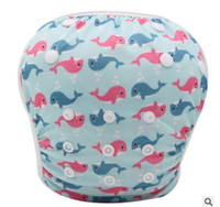 Wholesale Diaper Covers Flowers - Swim Diaper Unisex One Size Waterproof Adjustable Swim Diaper Pool Pant Baby Reusable Washable Cartoon Dolphins Flower Pool Cover 0-3 Years