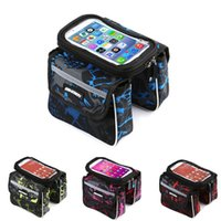 Wholesale Bike Supplies - 3 Colors 5.7 Size Bike Touch Bicycle Bag Screen Cycling Front Tube Bag Phone Pocket Riding Cycling Bag Supplies