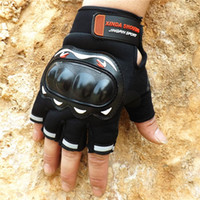 Wholesale Good Tactic - Wholesale- Quality New Security Non slip Half Finger Glove Pattern Motorcycle Racing Motion Cycling Tactic Glove Goods In Stock motocross