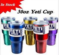 Wholesale Large Beer Glass Wholesale - Newest Yeti 30 oz 30oz Rambler Tumbler Cups Bright Green Bright Purple Bright Red Copper Metallic color Cars Beer Mug Large Capacity Mug
