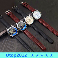 Wholesale Color Leather Watch - 50% Utop2012 NEW Free Shipping Hot Sale Mens Watch Top Brand Quartz Watch Stainless Steel watch 4 Options