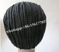 Wholesale Cheap One Pc - braided Cornrows Cap For Making Easier Sew Ins Cheap Adjustable Cap Glueless Hair Net Liner Crochet Caps 1 pcs