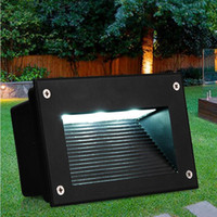 Wholesale Outdoor Led Floor Lights - 160*110mm Recessed Led Floor Lights 3W 5W Stair Lighting Led Step Light Waterproof Outdoor Recessed Wall Light Lamp 110-130lm W SMD5730