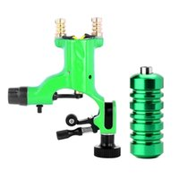 Wholesale Green Dragonfly Rotary Tattoo Machine Shader And Liner Assorted With Aluminum Alloy Tattoo Grip For Tattoo Body Art kit