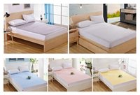 Wholesale Sheets Protectors - King Size Terry Towel Waterproof Quilted Mattress Bed Cover Pad Bug Dust Protector Fitted Sheet Washable Bedspread Bedding 200*220cm + 30