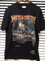 Wholesale Vintage Band Tees - 2017 New Fear Of God Megadeth Resurrected Vintage Heavy Metal Rock Band Graphic Summer Short Sleeve Cotton T-shirt Tee S-XL