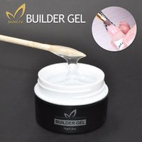 Wholesale Black French Nail Tips - Wholesale- 1Pcs Pink Clear Color UV Builder Gel Crystal Nails Transparent UV Gel for French Art Tips Manicure Set Extension Fashion Design