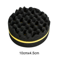 Wholesale Round Shape Hair - New Arrival Double Barber Hair Brush Sponge For Dreads Locking Twist Coil Afro Curl Wave Round Shape