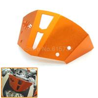 125 bicicleta al por mayor-Parabrisas de aluminio de color naranja para motocicleta para KTM Duke 125200390 Duke dirt bike