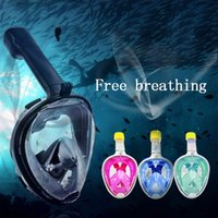 Wholesale Underwater Equipment - 2017 Hot Selling Full Face Scuba Diving Mask 180 Degree Vision Anti-Fog Full Dry Swimming Snorkeling Mask Underwater Equipment