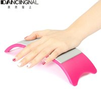 Wholesale Silicone Manicure Hands - Wholesale- Nail Art Hand Holder Silicone Cushion Pillow Pad Nails Salon Tool Arm Rest Manicure Accessories Comfortable Equipment
