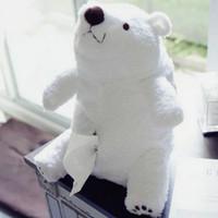 Wholesale Tissue Pillow - Kawaii big white bear tissue box polar bear napkin box cloth doll plush toys stuffed plush doll kids toys baby pillow