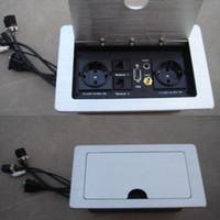 dudak tıkaçları toptan satış-Çift AB Özelleştirilmiş RCA HDMI İnternet VGA Ses Soket Lip Up Soket Fişler ve Röle Soketler