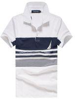 Wholesale Mens Tennis Clothing - 2017 nautica Polos Homme Brand Clothing Mens Golf Tennis Shirt Brands Cotton Short-sleeve Men's Polo Shirts Turn-down Collar Free Shipping