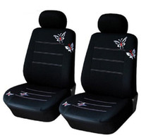 Wholesale butterfly seat covers for sale - 4pcs set Car front Seat Cover sets Universal Fit SUV sedans elastic washable breathable black Butterfly