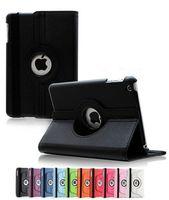 ipad mini folyo çantaları toptan satış-PU Deri 360 Derece Dönen Çok açılı Standı Folio mart Uyandırma Uyku Kılıf Apple iPad 2 3 4 mini 1 Hava Pro