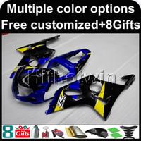 motocicletas gsxr plásticos venda por atacado-23colors + 8Gifts BLUE motor tampa da motocicleta capota para Suzuki GSX-R1000 00 01 02 GSXR 1000 2000 2001 2002 ABS Carenagem De Plástico