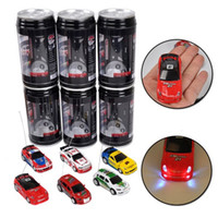 Wholesale Wholesale Toys For Chrismas - Mini RC Racing Car 1:64 Coke Can Car Radio Remote Control Vehicle LED Light Toys For Kids Chrismas Gift