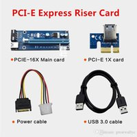 Wholesale Desktop Graphics Cards - Mining Dedicated Graphics Card PCI-E 1X To 16X Riser Card With 4 Pin To SATA Power Supply USB 3.0 Cable 60cm for Bitcoin Miner