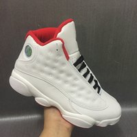 Wholesale Neoprene Double - Wholesale new air retro 13 XIII White Red MEN basketball shoes 13s sports sneakers trainers cheap high quality double box size 8-13