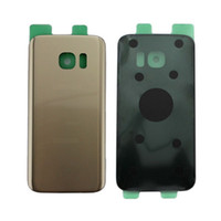 Wholesale Galaxy Replacement Battery - Original New Glass Rear Back Battery Door With Sticker for Samsung Galaxy S7 G930 G930F Back Cover Housing Case Replacement Parts with logo