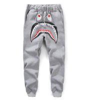 hai-haferhose großhandel-Hip Hop kanye Hosen Männer Jogginghose CargoLoose Lässige Trainingsanzug Harem Hosen Knochen Harem Haifisch Kopf dünne Mode Shark Hosen