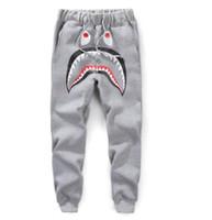 pantalones de chándal fino al por mayor-Pantalones de chándal Hip Hop kanye Pantalones de chándal CargoLoose Pantalones de harén ocasionales Pantalones Harem de tiburón Harem de hueso Pantalones de tiburón de moda fina