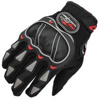 мотоциклетные байкерские перчатки оптовых-Профессиональный классический Por-байкер гоночный мотоцикл перчатки количество черный синий красный полный палец мотоцикл Motos защитные перчатки для мужчин женщин