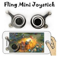 Fling Mini Mobile Joystick Doppio Analog Joysticks Clip Smart per Samrtphone Gaming iPad Pod Touch iPhone 7 con scatola al dettaglio CCA6301 300pcs