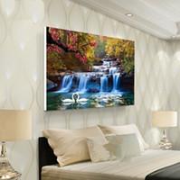 pintura al óleo naturaleza al por mayor-30cmx40cm Sofá Dormitorio Pintura al óleo Naturaleza Pinturas de paisajes Decoración sin marco Cartel impreso para sala de estar Arte de pared Imprimir