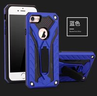 Wholesale Dual Layer Holster Case - For Apple Iphone7 heavy duty ruggled dual layer holster shockproof protetive case for Apple Iphone6 with kickstand