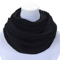 Wholesale Cable Knit Scarfs - Wholesale-Brand new 2015 Pure colors neck Scarf Women Winter Warm Infinity 2 Circle Cable Knit Long Ring Scarf