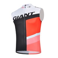 Wholesale Giant Cycling Jersey White - Giant Sleeveless vest Roupa Ciclismo Cycling Jersey Breathable Bicycle Clothing Quick-Dry Bike Sportswear Man Riding MTB C0212